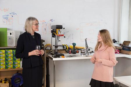 Margot James visit to Barclays Eagle Lab 02.02.17