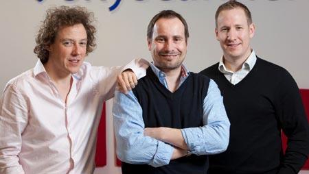 Bonamy Grimes, Gareth Williams, Barry Smith [left to right]