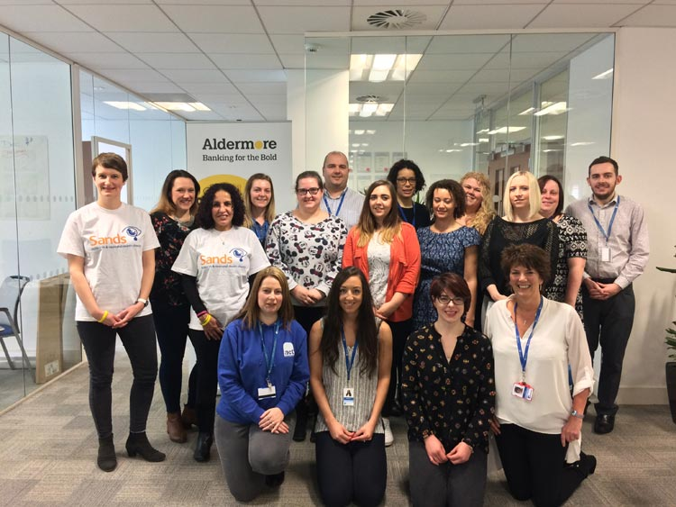 ALDERMORE EMPLOYEES CHOOSE SANDS AS 2017 CHARITY OF THE YEAR