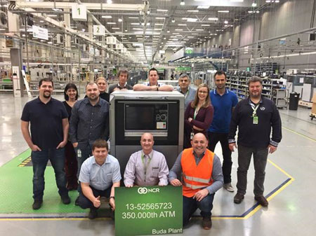 NCR ROLLS OUT RECORD 350,000TH ATM FROM ITS HUNGARIAN MANUFACTURING FACILITY