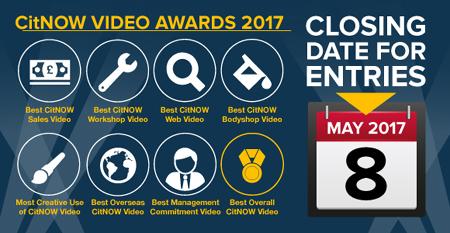 CitNOW Video Awards 2017 closing date