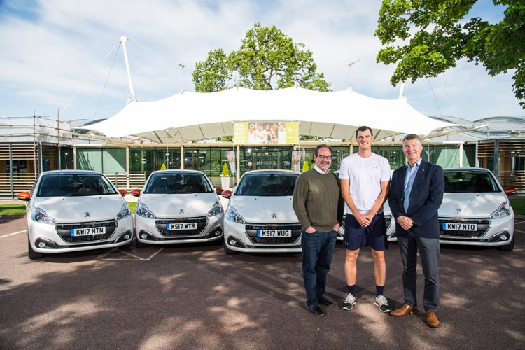VOLLEY OF PEUGEOT 208 MODELS ARRIVE AT THE HOME OF BRITISH TENNIS THANKS TO JAMIE MURRAY-3