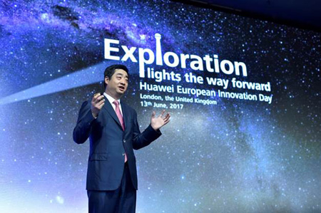 Ken Hu, Huawei's Deputy Chairman and Rotating CEO, is giving a keynote at Huawei European Innovation Day 2017.