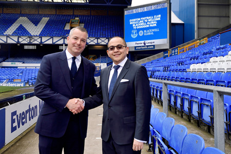 Alan McTavish and Michael Chai at Goodison Park.