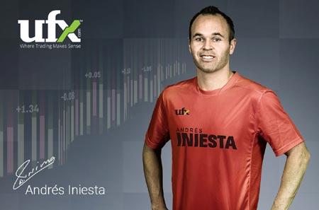 UFX ANNOUNCES PARTNERSHIP WITH FOOTBALL MASTERMIND ANDRÉS INIESTA
