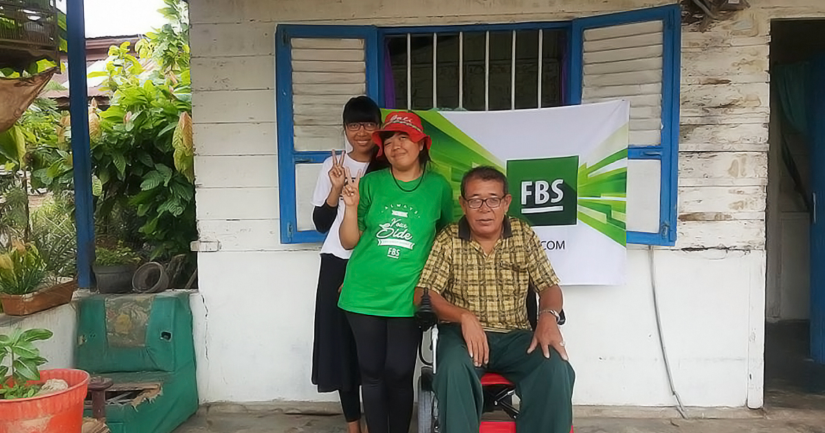 Merlyn Rebecca from Indonesia wished for a power chair for her beloved mother