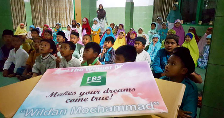 Wildan Mochammad from Indonesia wished for education materials and toys for children
