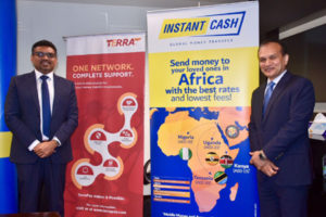 L to R, Philip C Daniel,Acting CEO, Instant Cash and Ambar Sur_Founder & CEO_TerraPay