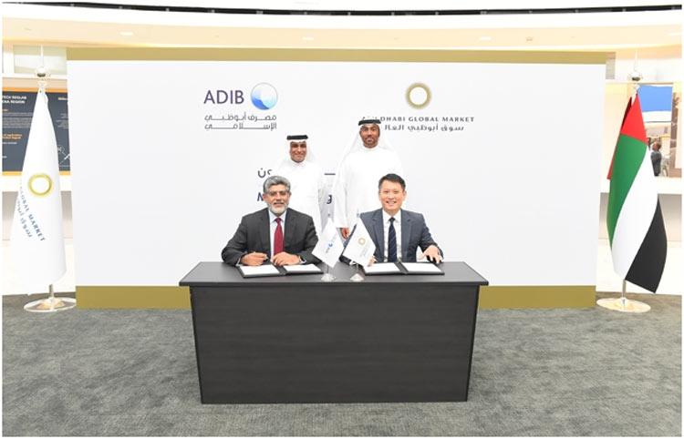 ADIB ADGM FinTech MOU with Ahmed Al Sayegh Chairman ADGM & Mr Khamis Bu Haroon, Vice Chairman and Acting CEO of Abu Dhabi Islamic Bank-1