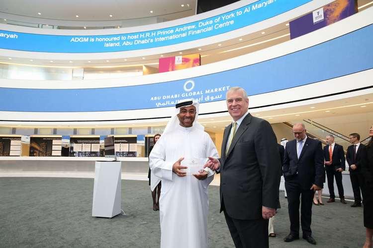 HE Ahmed Al Sayagh Chairman ADGM and HRH The Duke of York