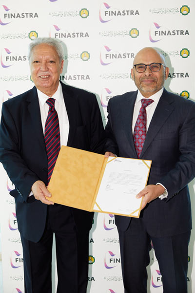 Jamal Abdelmalek, Chairman at BCD (left) and Nadeem Syed, CEO at Finastra (right)