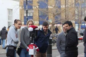 SANTABOT TOURS THE STREETS OF LONDON IN AID OF FIRST LOVE FOUNDATION