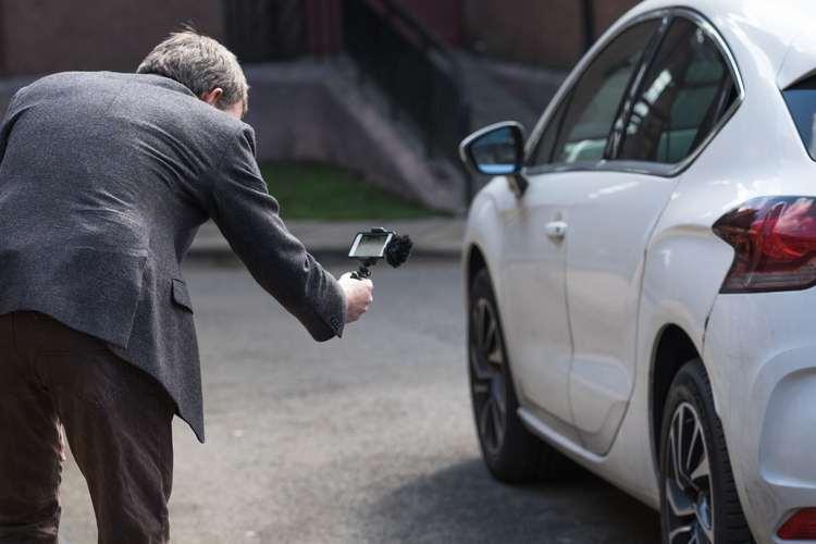 Recording video of a car