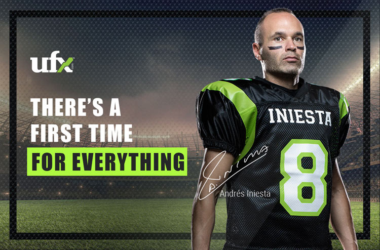 """""""HUT HUT"""" – ANDRÉS INIESTA TACKLES NEW ROLE IN UFX COMMERCIAL 1"""
