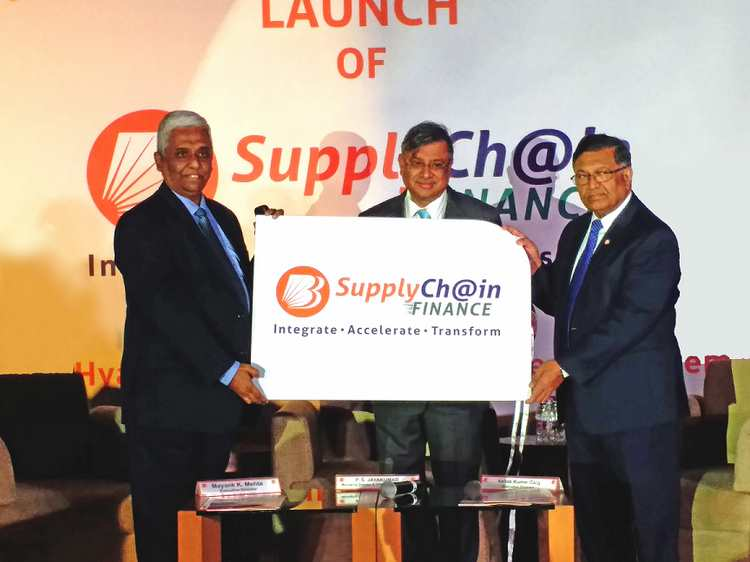 (From L to R: Mr. Mayank K. Mehta, Executive Director, Mr. P. S. Jayakumar, Managing Director and Chief Executive Officer, and Mr. Ashok Kumar Garg, Executive Director of Bank of Baroda)