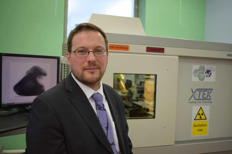 Dr Ben Jones at the CT scanner