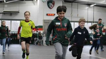 KIDS KICK-OFF HEALTHY SCHOOLS PROGRAMME WITH LEICESTER TIGERS AND GLOBAL PAYMENTS