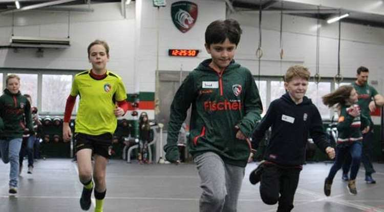 Youngsters enjoyed a behind-the-scenes visit to Oval Park to launch Healthy Schools