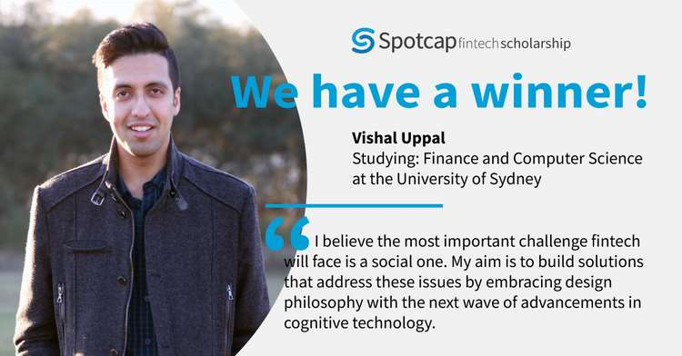SPOTCAP AWARDS SCHOLARSHIP TO ASPIRING FINTECH ENTREPRENEUR