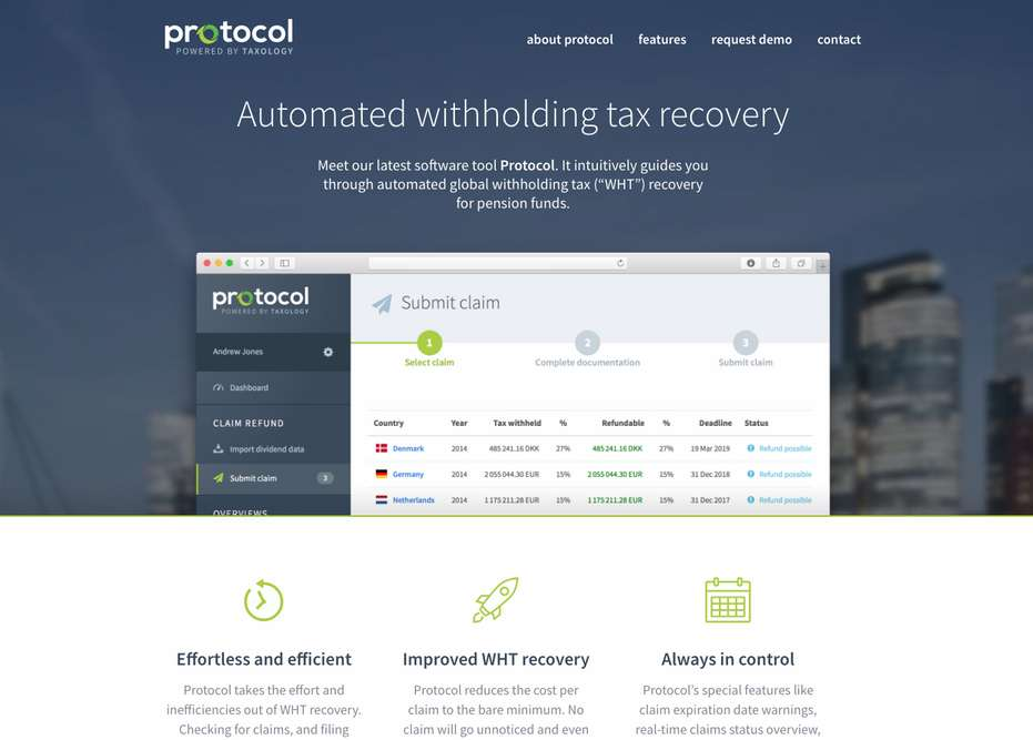 Protocol, A New Web-Based Solution Automating Global Withholding Tax Recovery, Launches In North America