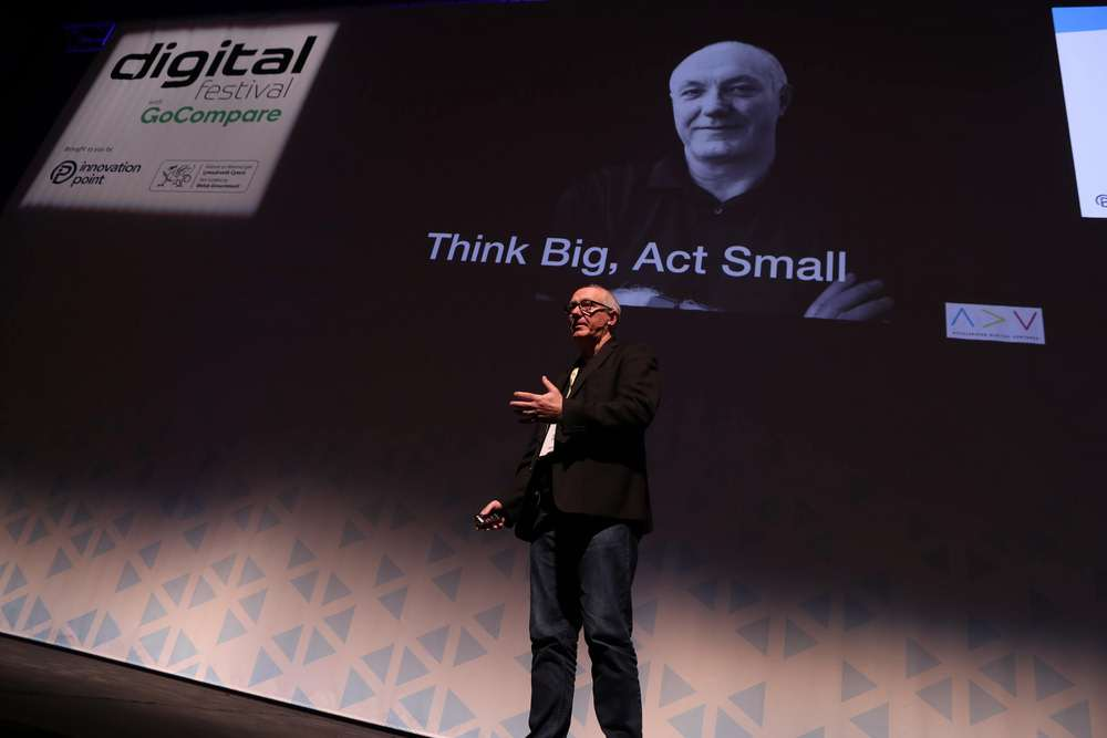 Keith Teare speaking at Digital Festival