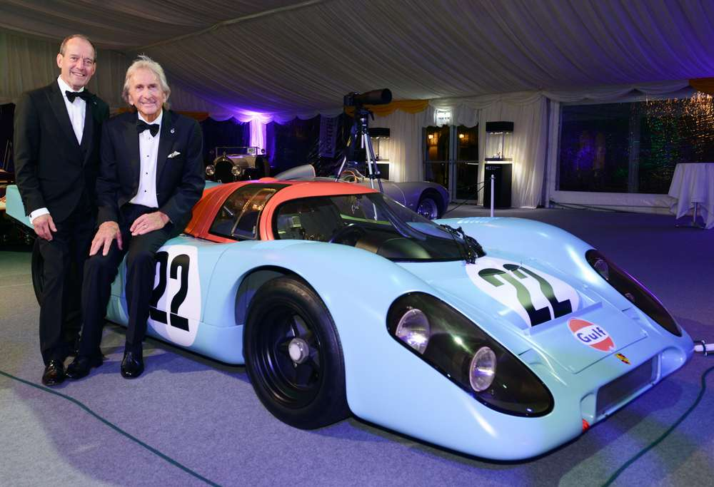 Jackie Oliver & Derek Bell at the Motor Sport Hall of Fame - Porsche 917