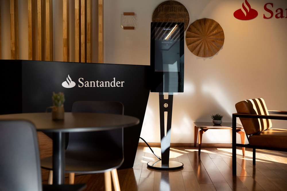 Santander WorkCafe sign-in kiosks feature Zytronic touch sensors