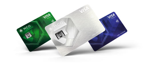 New Visa Platinum Cards unveiled by MCO. (From left to right: Jade Green, Icy White, Royal Indigo)