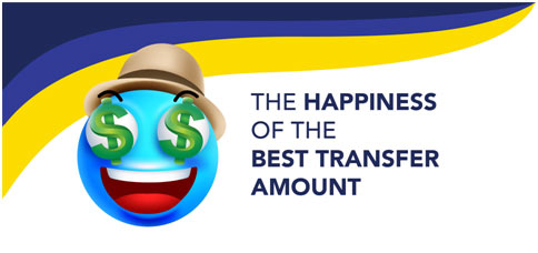 The Happiness of the Best Transfer Amount