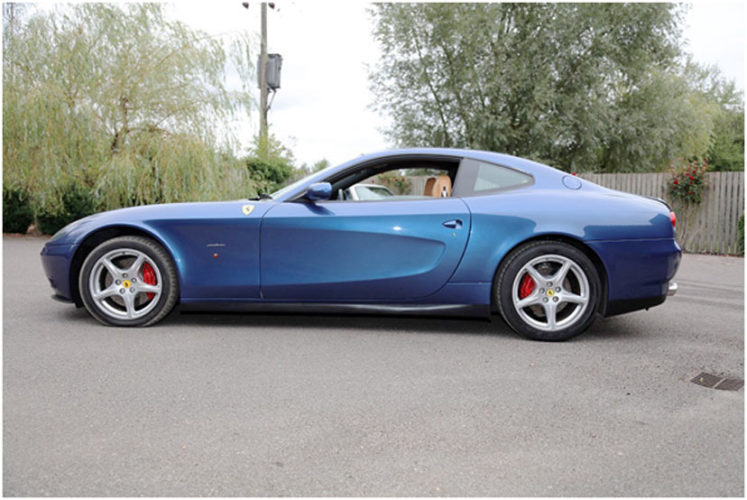 Eric Clapton's Ferrari 612 ScagliettiF1 for sale with H&H classics on October 17th at Duxford