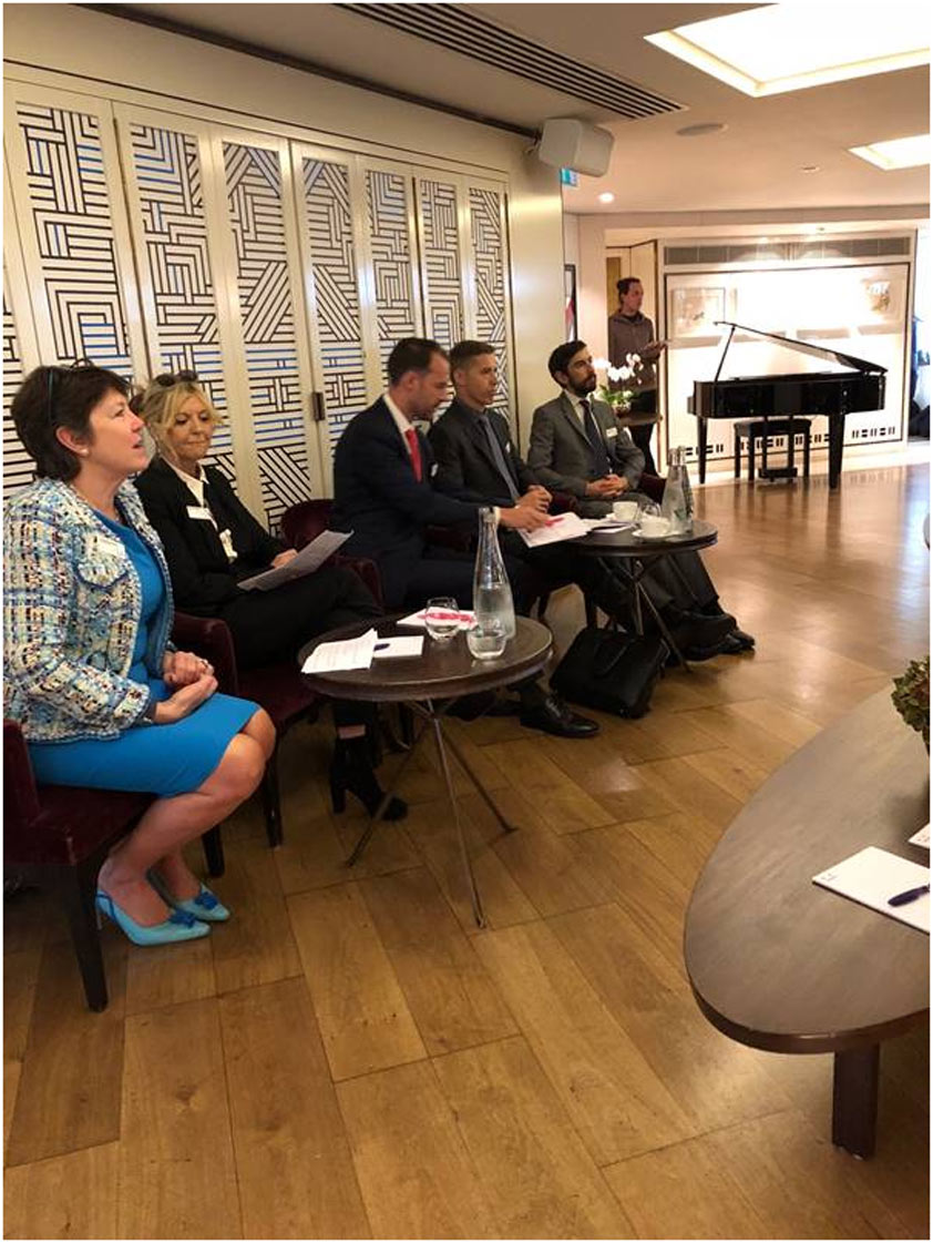 From left to right: Georgina Squire (Rosling King), Sarah Keeling (Berkeley Research Group), Colin Diss (Grant Thornton), Euan Palmer (Rosling King) and Peter de Verneuil Smith (3VB Chambers)