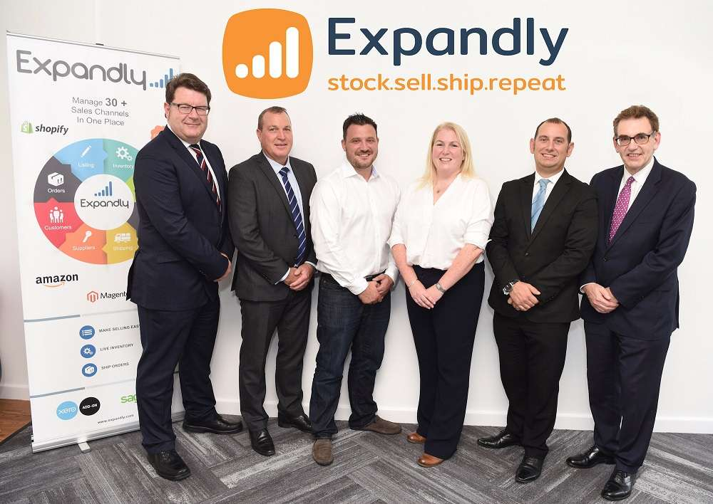 L-R: Lewis Stringer (MEIF), Jon Corbett (Barclays), Alan Wilson (Expandly), Sandy Reid (Mercia Fund Managers), Tom Gray (Fraser Brown) and Malcolm Johnston (SEMLEP)