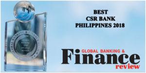 CitySavings named as Best CSR Bank Philippines 2018