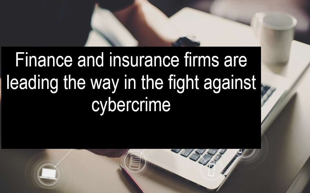 Government figures released this past week show Finance and insurance firms leading the way in the fight against cybercrime