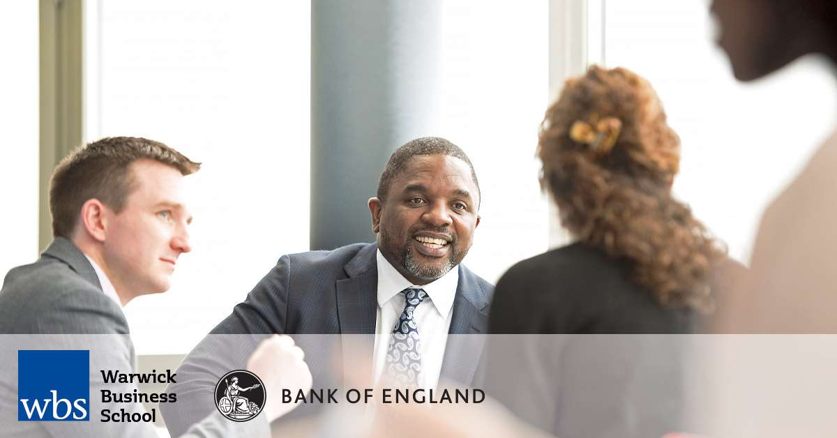 Warwick Business School (WBS) in partnership with the Bank of England offer the MSc Global Central Banking and Financial Regulation