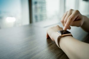 The smart watch's role is ensuring PSD2 compliance