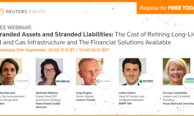Reuters Events Free Webinar – Stranded Liabilities and Stranded Assets 39
