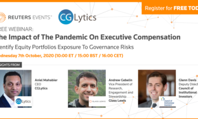 Reuters Events Free Webinar – The Impact of The Pandemic On Executive Compensation 20
