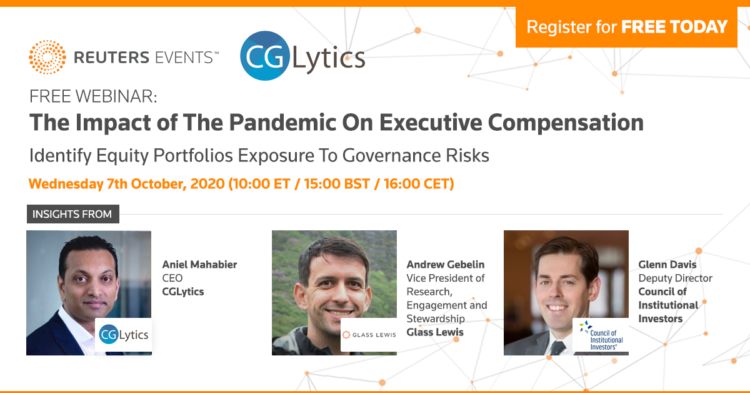 Reuters Events Free Webinar – The Impact of The Pandemic On Executive Compensation 3