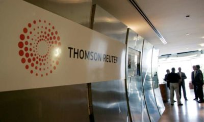 Thomson Reuters fourth-quarter revenue, adjusted earnings rise 21