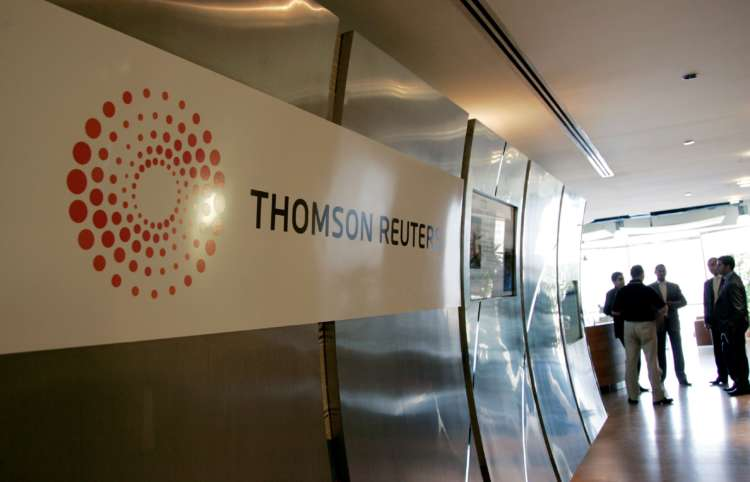 Thomson Reuters fourth-quarter revenue, adjusted earnings rise 22