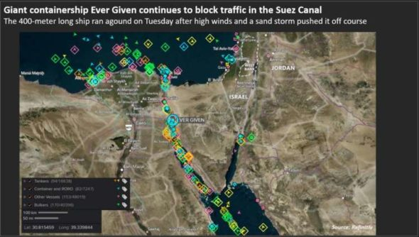 Suez Canal steps up efforts to remove blockage, shipping rates surge 9