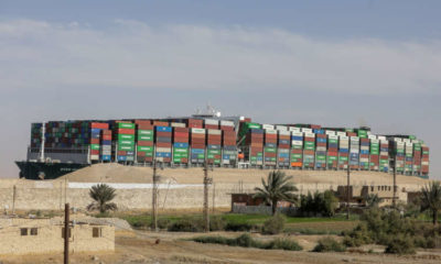 Dislodged ship held in Suez Canal as talks continue over $916 million claim 9