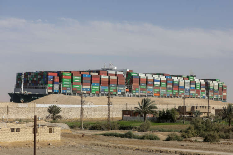 Dislodged ship held in Suez Canal as talks continue over $916 million claim 10