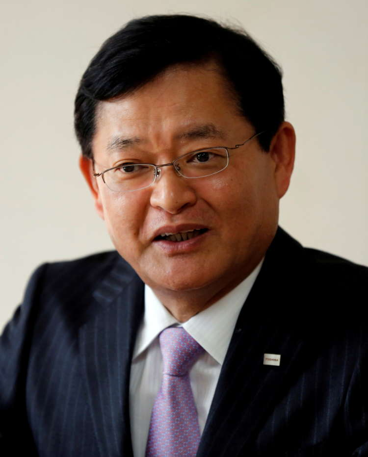Toshiba chief steps down, shares jump on possible bidding war 8