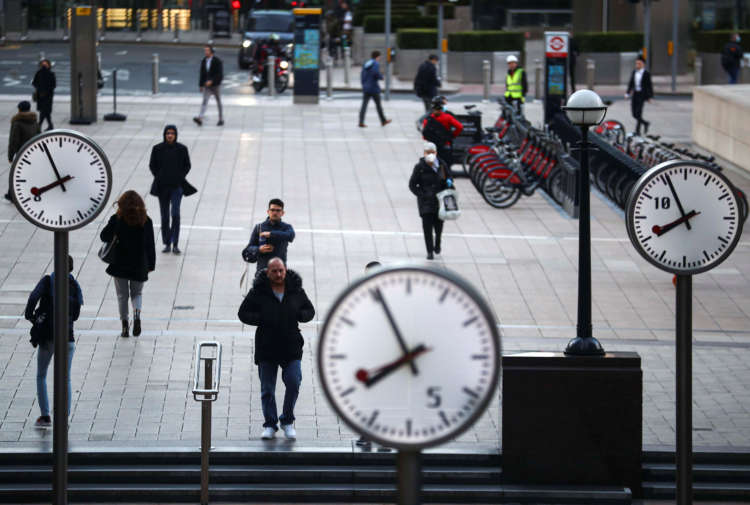 UK productivity rose in 2020 as lockdown hit lower-paid jobs 1