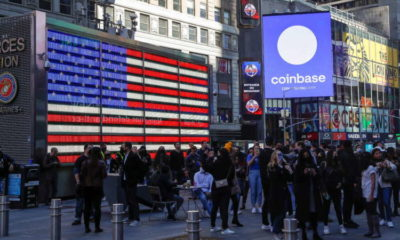 Coinbase jumps 11% day after Nasdaq debut 10