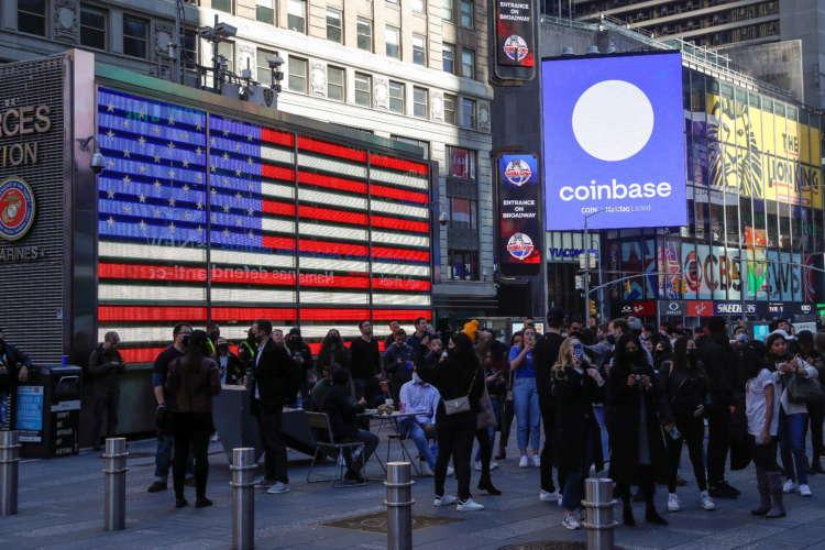 Coinbase jumps 11% day after Nasdaq debut 11