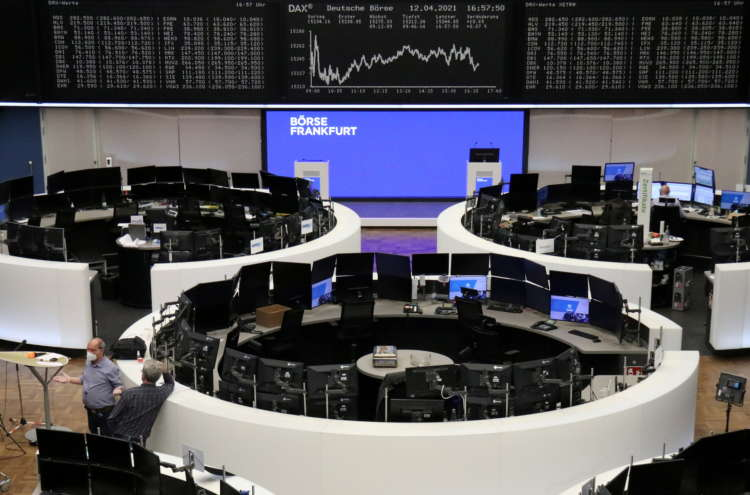 European shares pause near record high with eyes on U.S. inflation data