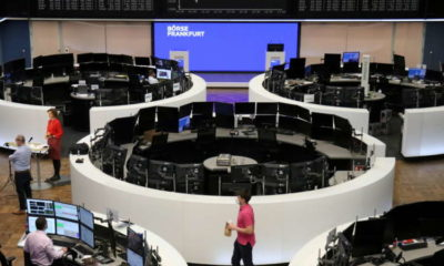 European shares near record high on earnings boost